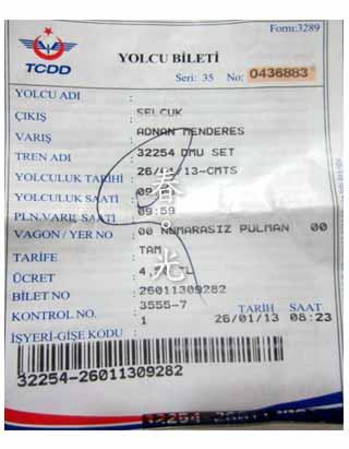 TCDD車票