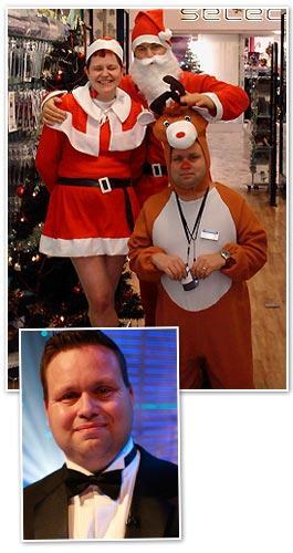 Paul Potts的聖誕節裝扮(在手機店的工作)