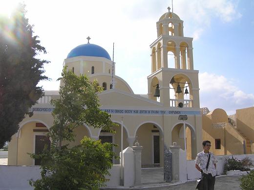 愛琴海島上的教堂