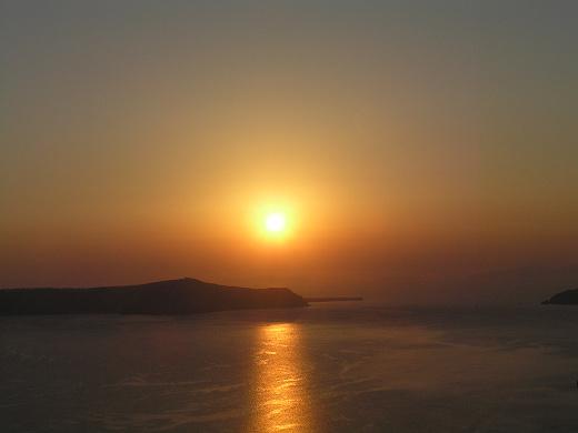 美麗的愛琴海上黃昏