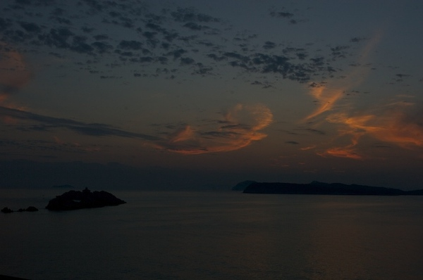 在Dubrovnik Palace Hotel看到的夕陽