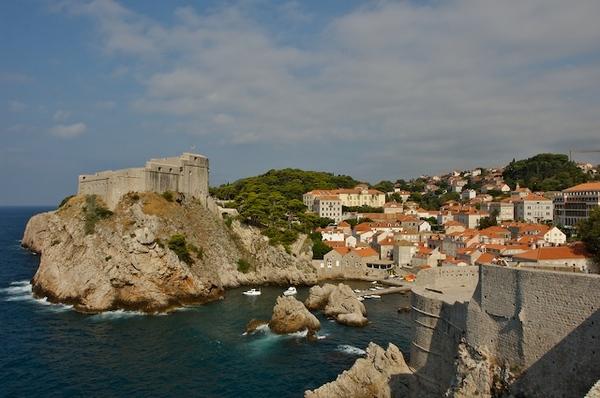城堡上看古城