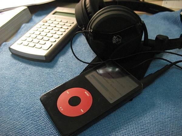 耳機、計算機、ipod