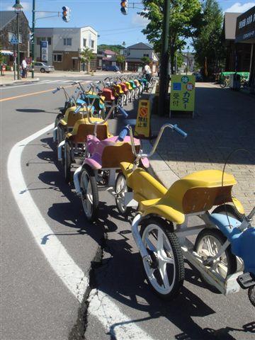 大小沼公園特產--超長腳踏車