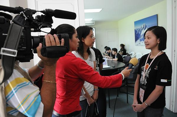 Judy在美接受媒體採訪