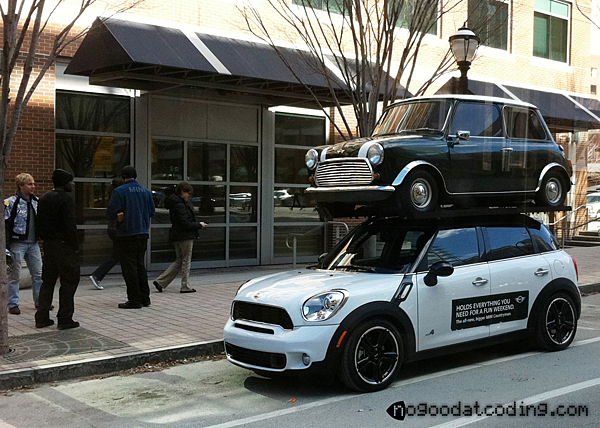Classic_Mini_Cooper_Mounted_On_Mini_Cooper_Countryman_watermarked