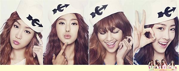 Sistar《Loving U》夏日回歸宣傳照
