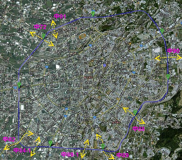 豐原大道路線圖