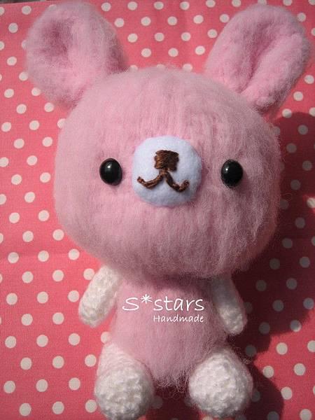 大頭柔柔粉兔寶寶1