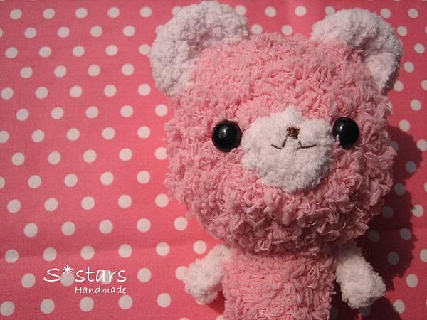 粉紅毛巾線小熊熊3