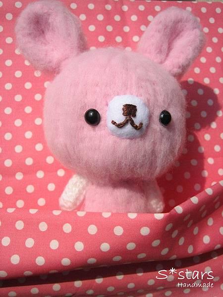 大頭柔柔粉兔寶寶4