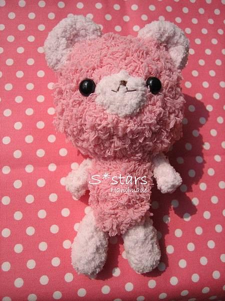 粉紅毛巾線小熊熊1