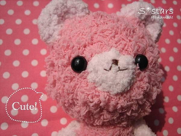 粉紅毛巾線小熊熊2