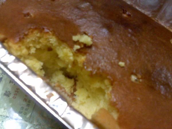 20130224被吃了幾口的蜂蜜蛋糕