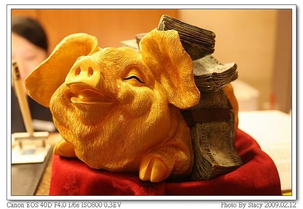 櫃台的小豬豬