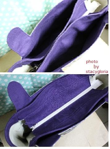 相約手作拼布樂Pairt III(三)紫金系肩背包4