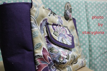 相約手作拼布樂Pairt III(三)紫金系肩背包2