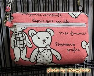 1011107˙鑽石手拿包。點點玫瑰+粉熊熊3