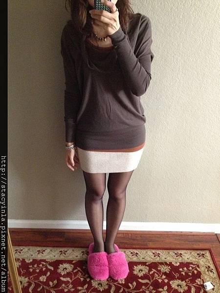 毛料合身裙(米白) II