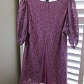AS05 紫色蕾絲紗洋裝