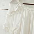 AS06 天使白棉質滾蕾絲邊洋裝