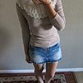 AS15 毛領亮蔥上衣 - 杏, 售價 $500