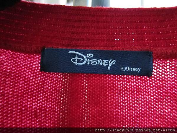E6 側米奇紅色針織長外, 售價 $900