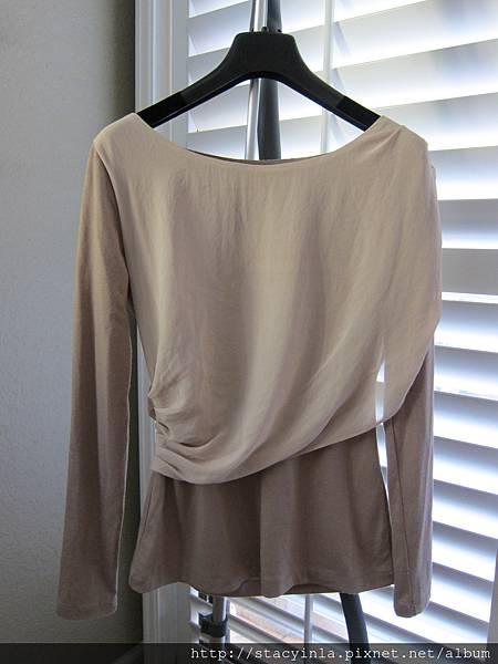 E7 雪紡接棉合袖上衣, 售價 $400