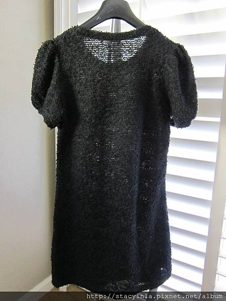 M4 甜美冬日 黑色珍珠蝴蝶結毛料洋裝, 售價 $800