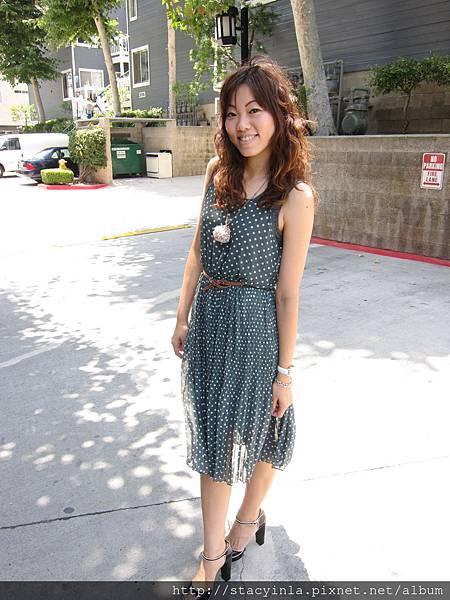 M7 復古裙打折水玉長洋, 售價 $800