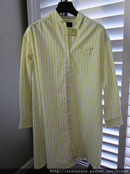 N1 直條紋襯衫洋 (黃), 售價 $800