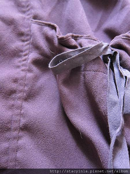 W7 t-parts 紫羅蘭 大口袋麂皮感上衣
