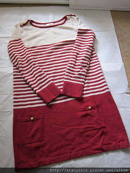 M12 學院風條紋針織洋裝