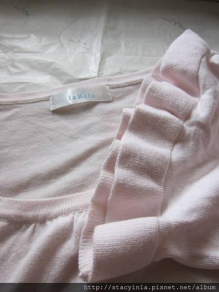 W10 日貨La Bala 嬰兒粉針織上衣