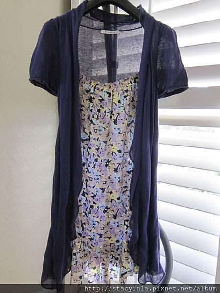 W15 t-parts 紫羅蘭假兩件洋裝