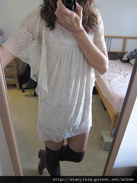 洋裝 9 水袖全蕾絲洋裝 $500 (4).JPG