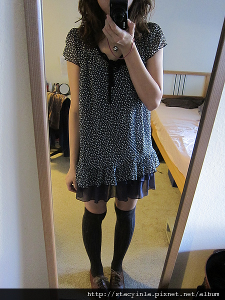 洋裝 13 iimk星星綁帶雪紡紗短洋裝 $800 (1).JPG