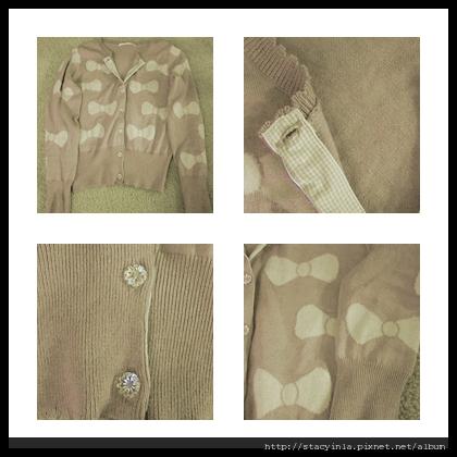 外套 2 俏皮粉紅底白色蝴蝶結針織長袖外套 $800 (1).jpg