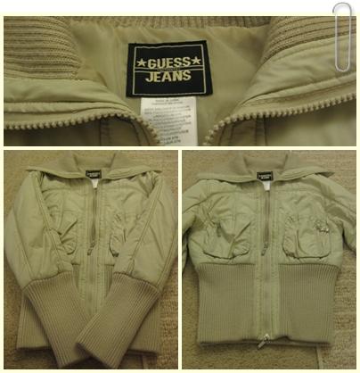 外套 2 Guess 米白緞面砰砰束腰外套.jpg