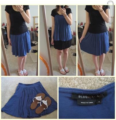 下半身 1 BCBG 棉質寶藍色兩穿裙.jpg