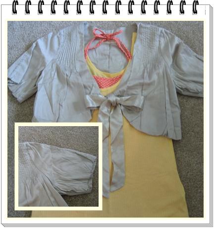 上衣 6 銀灰色緞帶蝴蝶節後打折小外套.jpg