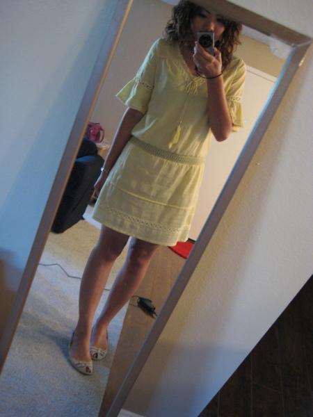 鵝黃色波西米亞洋裝 1.JPG