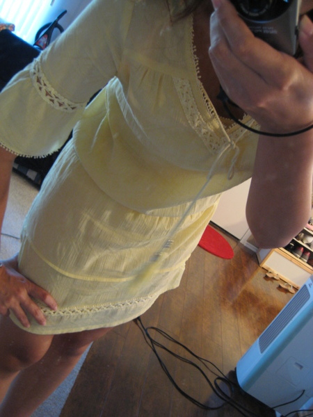 鵝黃色波西米亞洋裝 2.JPG