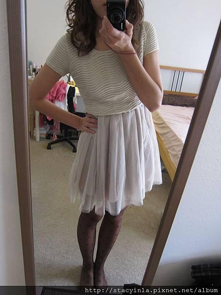 洋裝 32 短袖接紗洋裝, $700 - 1