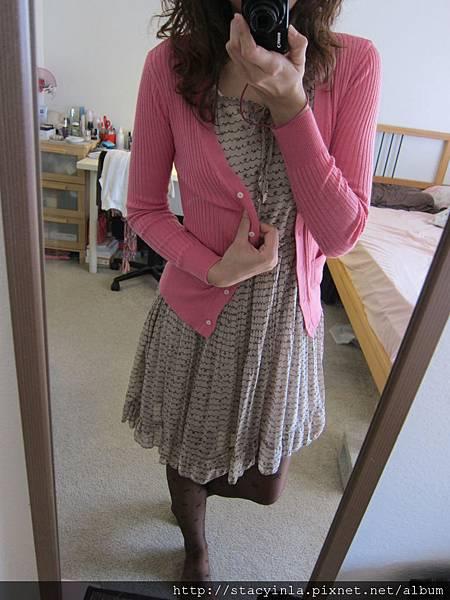 洋裝 35 荷葉 x 蝴蝶結圖騰線條洋裝, $800 - 2
