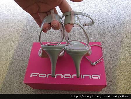 鞋子 2 Fornarina 暖灰 x 嫩粉 春夏涼鞋 $800 (2)