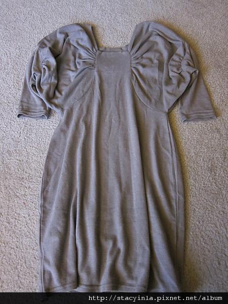 洋裝 3 可可色蝴蝶結毛料造型洋裝 $500 (1).JPG