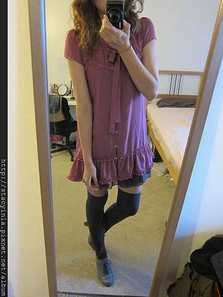 洋裝 23 iimk小桃綁帶荷葉邊短洋裝 $500