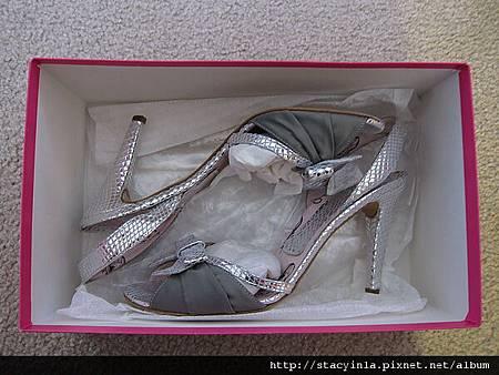 鞋子 1 Fornarina 銀蔥魚口涼鞋 $800 (3)