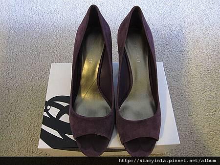鞋子 5 Nine West 紫羅蘭魚口鞋 $800 (1)